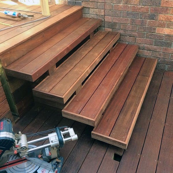 Top 50 Best Deck Steps Ideas - Backyard Design Inspiration on Backyard Patio Steps id=98547