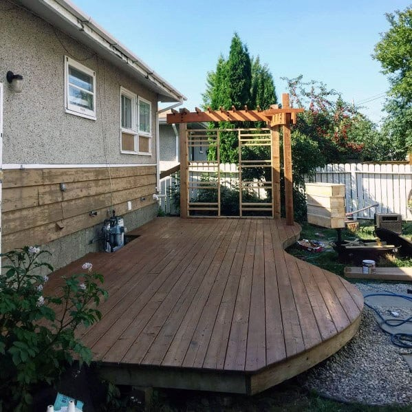 Top 60 Best Floating Deck Ideas - Contemporary Backyard ... on Floating Patio Ideas id=97818