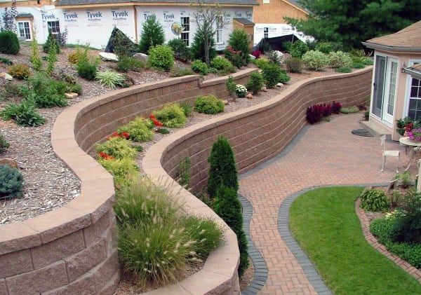 Top 60 Best Retaining Wall Ideas - Landscaping Designs on Patio Block Wall Ideas id=11450