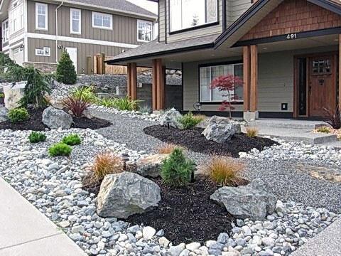 Top 50 Best River Rock Landscaping Ideas - Hardscape Designs on Backyard Rock Designs id=51406