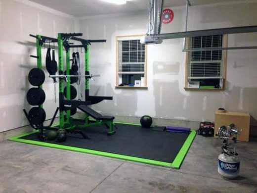 Top 40 Best Home Gym Floor Ideas   Fitness Room Flooring Designs Garage Home Gym Flooring Ideas Inspiration