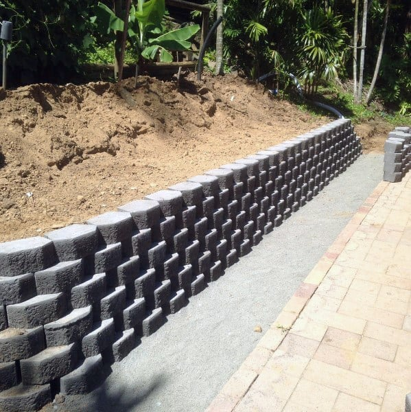 Top 60 Best Retaining Wall Ideas - Landscaping Designs on Patio Stone Wall Ideas id=28008