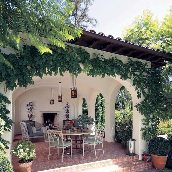 Top 50 Best Brick Patio Ideas - Home Backyard Designs on Small Backyard Brick Patio Ideas  id=90545