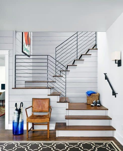 Top 70 Best Stair Railing Ideas Indoor Staircase Designs | Best Railing Design For Stairs | Balusters | Modern Stair | Cable Railing | Staircase Remodel | Glass Railing