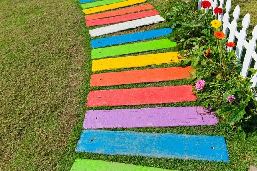 Top 50 Best Wooden Walkway Ideas - Wood Path Designs on Sloping Garden Path Ideas  id=60233