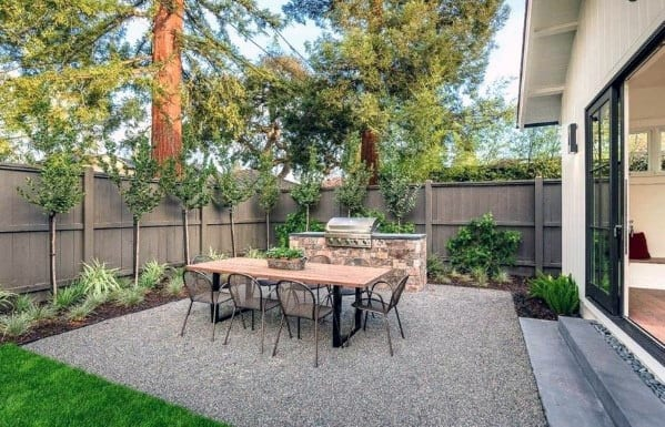 Top 40 Best Gravel Patio Ideas - Backyard Designs on Backyard Pebbles Design id=37275