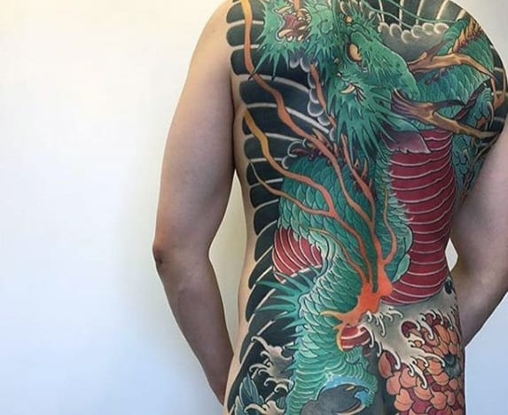 60 Dragon Back Tattoo Designs For Men Breath Of Power
