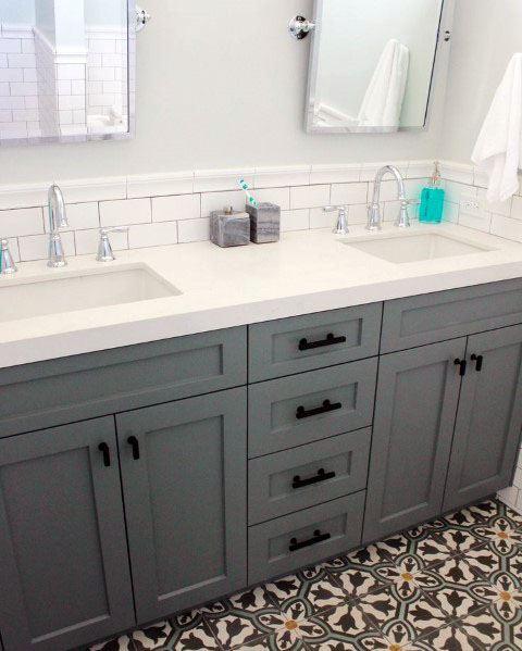 Top 70 Best Bathroom Backsplash Ideas - Sink Wall Designs on Bathroom Ideas Subway Tile  id=90061