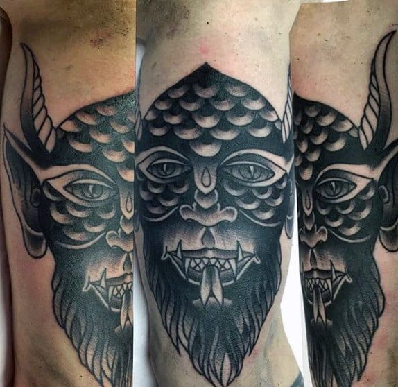 Angel Back Half Half Devil Tattoo