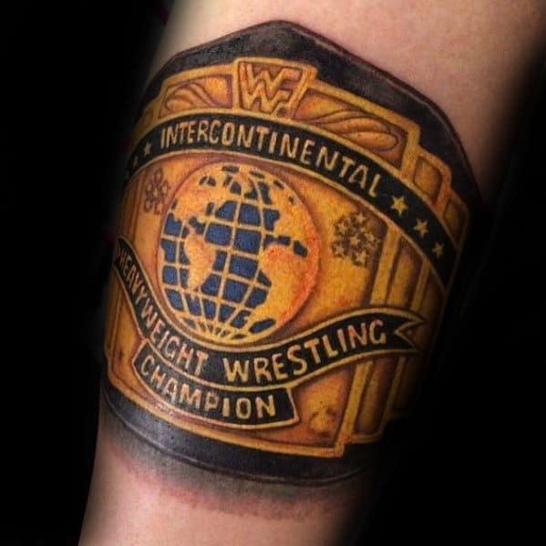 60 Wrestling Tattoos For Men WWE Design Ideas