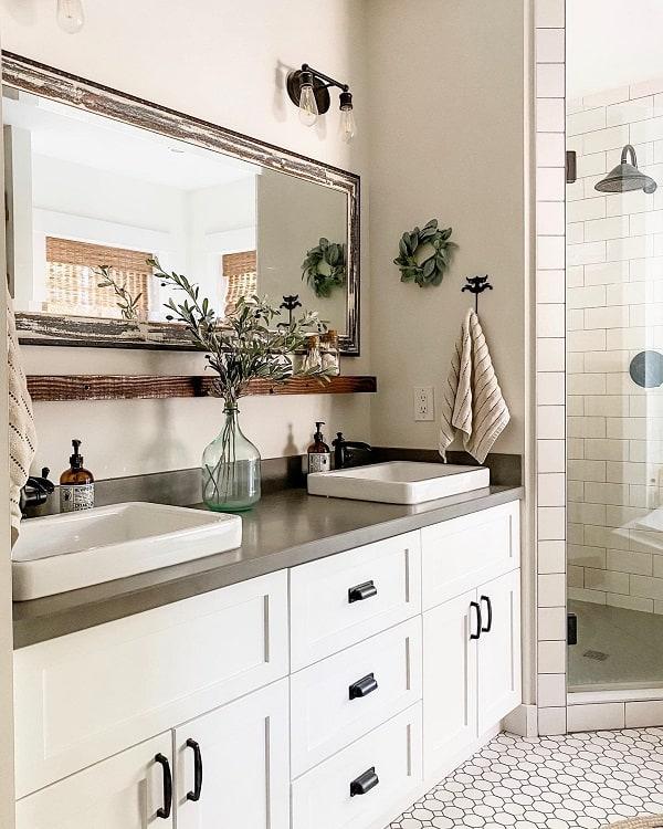 The 70 Best Farmhouse Bathroom Ideas - Home and Design ... on Bathroom Ideas Modern Farmhouse  id=40649