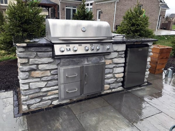 Top 50 Best Built In Grill Ideas - Outdoor Cooking Space ... on Built In Grill Backyard id=38071