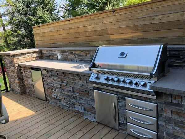 Top 50 Best Built In Grill Ideas - Outdoor Cooking Space ... on Built In Grill Backyard id=23266