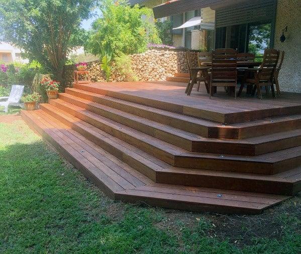Top 50 Best Deck Steps Ideas - Backyard Design Inspiration on Backyard Patio Steps id=52659