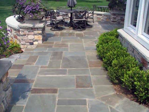 Top 60 Best Flagstone Patio Ideas - Hardscape Designs on Small Backyard Stone Patio Ideas id=56819
