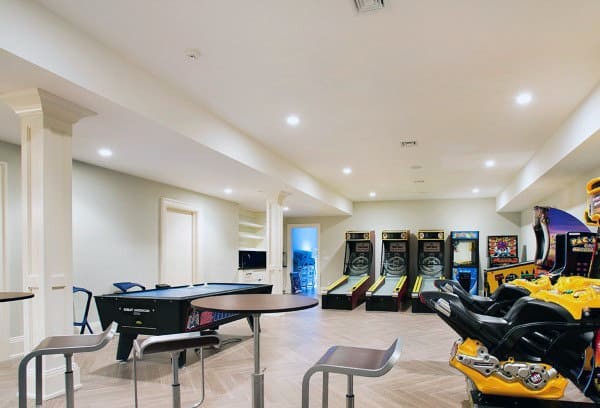 And did we mention it? 60 Game Room Ideas For Men - Cool Home Entertainment Designs
