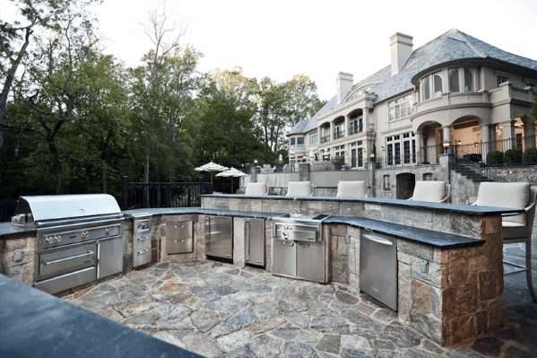 Top 50 Best Built In Grill Ideas - Outdoor Cooking Space ... on Built In Grill Backyard id=80837