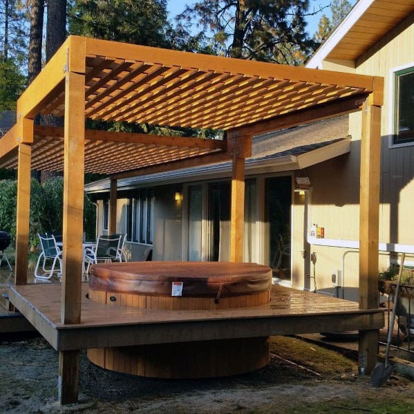 Top 80 Best Hot Tub Deck Ideas - Relaxing Backyard Designs on Deck And Hot Tub Ideas  id=41320