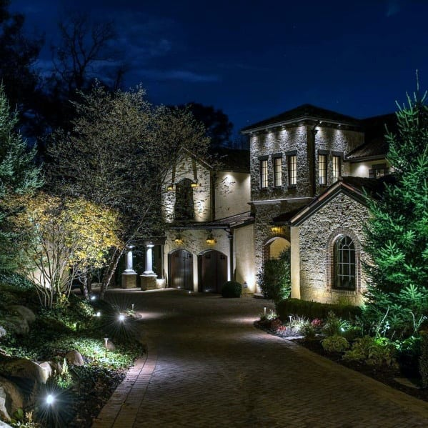 Top 70 Best Landscape Lighting Ideas - Front And Backyard ... on Outdoor Front Yard Ideas id=63532