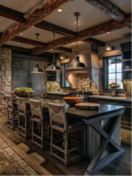 Top 60 Best Rustic Kitchen Ideas - Vintage Inspired ... on Rustic:rkh3E0Gkuju= Farmhouse Kitchen Ideas  id=99357