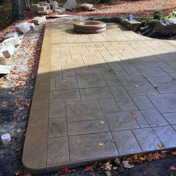 Top 50 Best Stamped Concrete Patio Ideas - Outdoor Space ... on Pavestone Patio Ideas id=47103