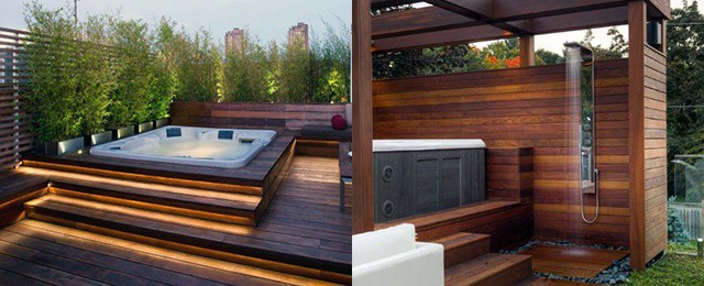 Top 80 Best Hot Tub Deck Ideas - Relaxing Backyard Designs on Deck And Hot Tub Ideas  id=73302