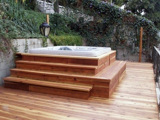 Top 80 Best Hot Tub Deck Ideas - Relaxing Backyard Designs on Deck And Hot Tub Ideas  id=51091