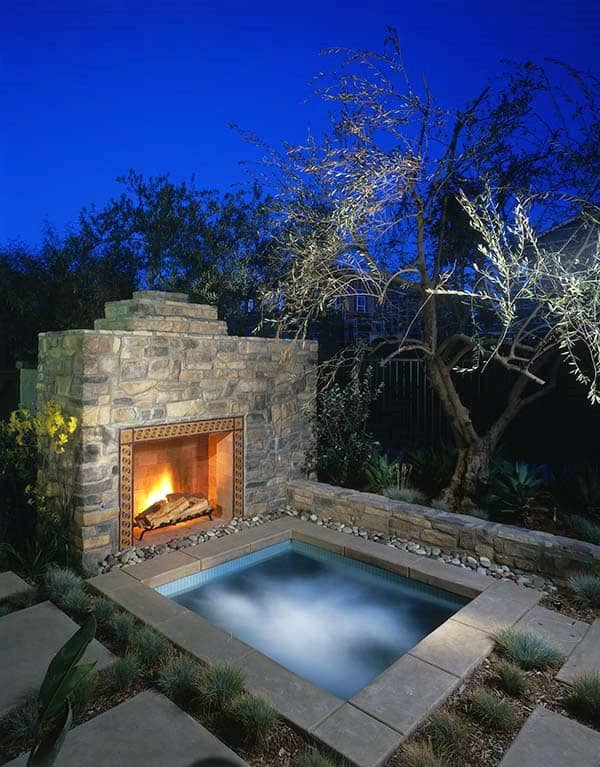 70 Outdoor Fireplace Designs For Men - Cool Fire Pit Ideas on Fireplace In Yard  id=33144