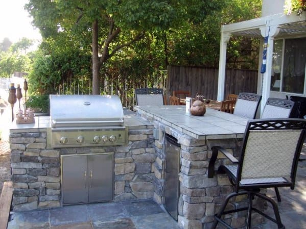 Top 50 Best Built In Grill Ideas - Outdoor Cooking Space ... on Built In Grill Backyard id=73852