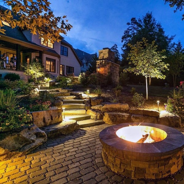 Top 60 Best Paver Patio Ideas - Backyard Dreamscape Designs on Backyard With Slope Ideas  id=77274