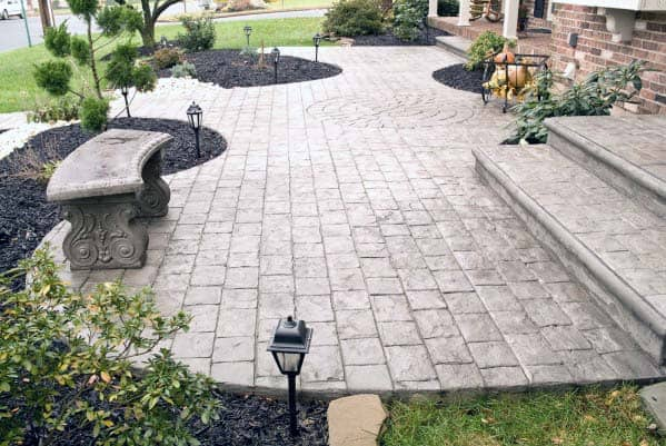 Top 50 Best Stamped Concrete Patio Ideas - Outdoor Space ... on Pavestone Patio Ideas id=71013