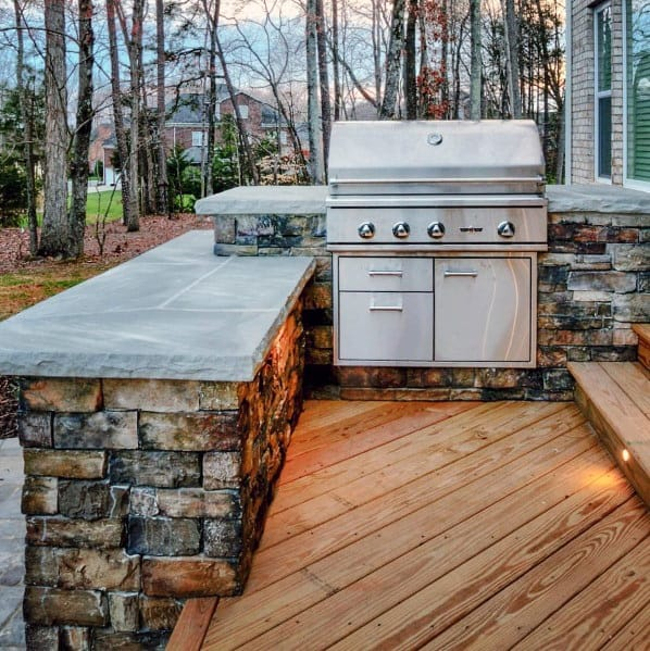 Top 50 Best Built In Grill Ideas - Outdoor Cooking Space ... on Built In Grill Backyard id=22061