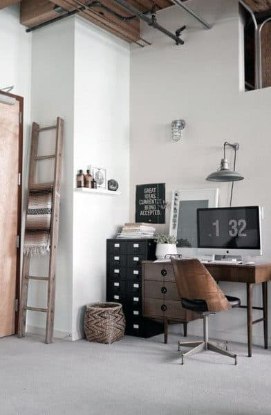 75 Small Home Office Ideas For Men Masculine Interior