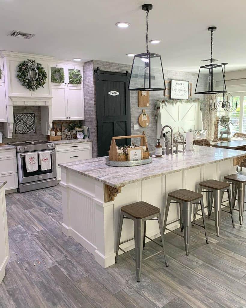 The Top 70+ Best Modern Farmhouse Kitchen - Interior Home ... on Luxury Farmhouse Kitchen  id=46703