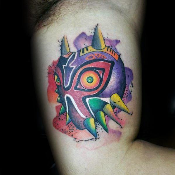 50 Majoras Mask Tattoo Designs For Men The Legend Of