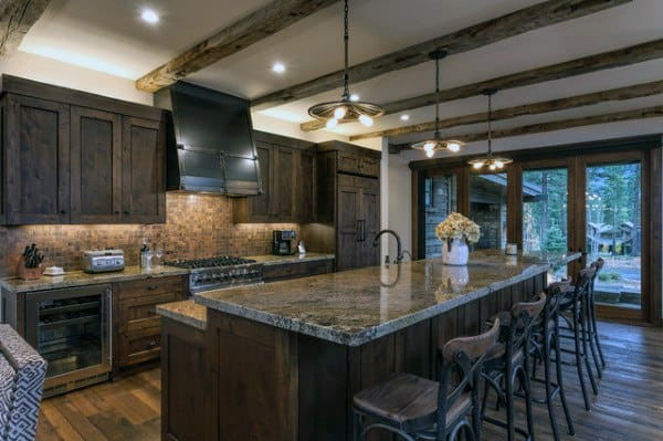 Top 60 Best Rustic Kitchen Ideas - Vintage Inspired ... on Farmhouse:4Leikoxevec= Rustic Kitchen Ideas  id=14955