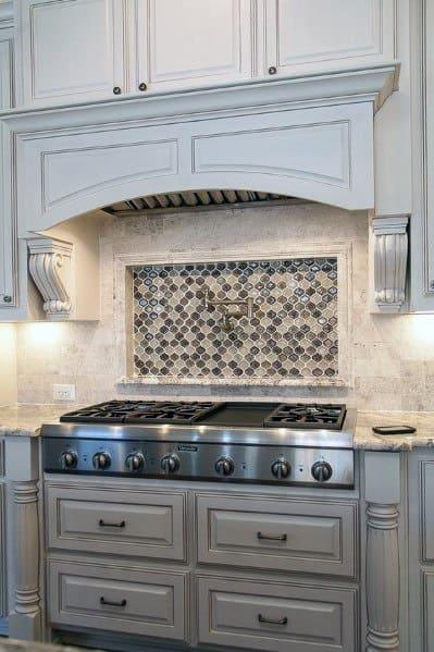 Top 60 Best Kitchen Stone Backsplash Ideas - Interior Designs on Granite Stove Backsplash  id=59557