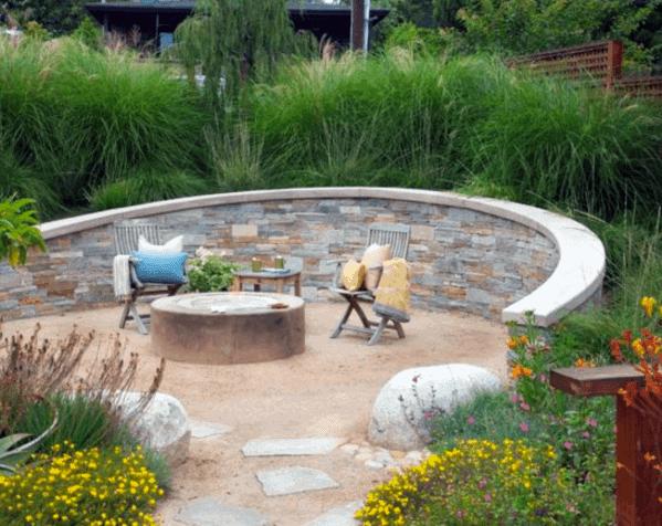Landscape Gravel Patio Design Idea Inspiration