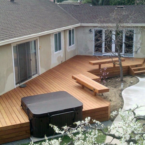 Top 80 Best Hot Tub Deck Ideas - Relaxing Backyard Designs on Deck And Hot Tub Ideas  id=17913