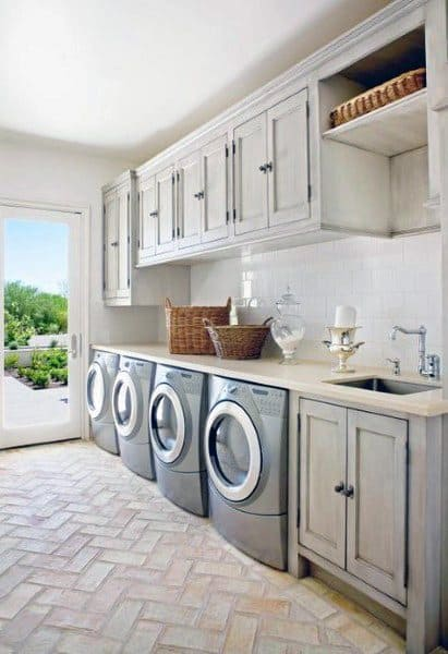 Top 50 Best Laundry Room Ideas - Modern And Modish Designs on Laundry Decorating Ideas  id=40063