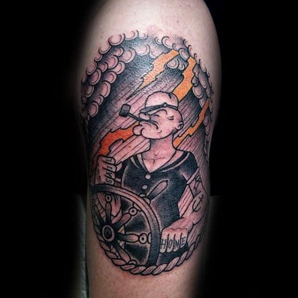 Star Clouds Tattoos Men