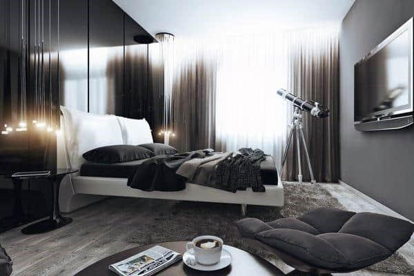 60 Men's Bedroom Ideas - Masculine Interior Design Inspiration on Bedroom Ideas For Men Small Room  id=63183