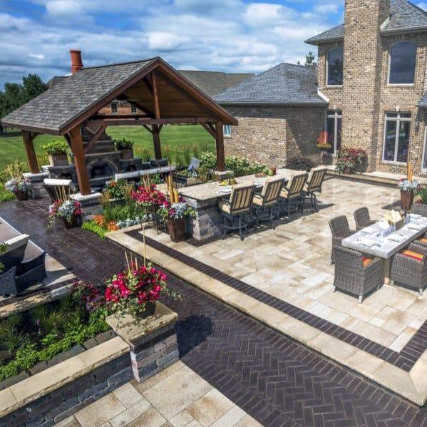 Top 60 Best Paver Patio Ideas - Backyard Dreamscape Designs on Luxury Backyard Design  id=86498