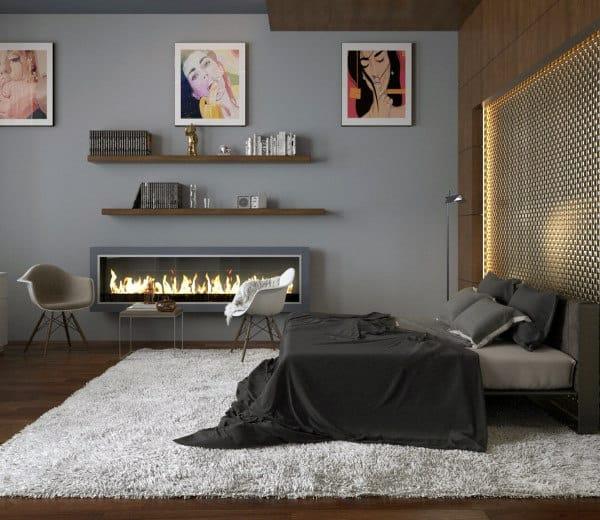 60 Men's Bedroom Ideas - Masculine Interior Design Inspiration on Bedroom Ideas For Men Small Room  id=91698
