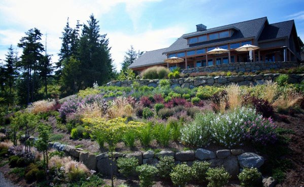 Top 50 Best Slope Landscaping Ideas - Hill Softscape Designs on Backyard Hill Landscaping Ideas  id=45411