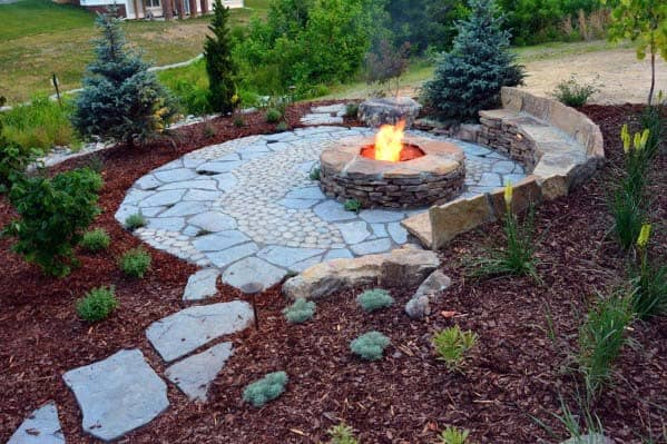 Top 50 Best Fire Pit Landscaping Ideas - Backyard Designs on Garden Ideas With Fire Pit id=19370