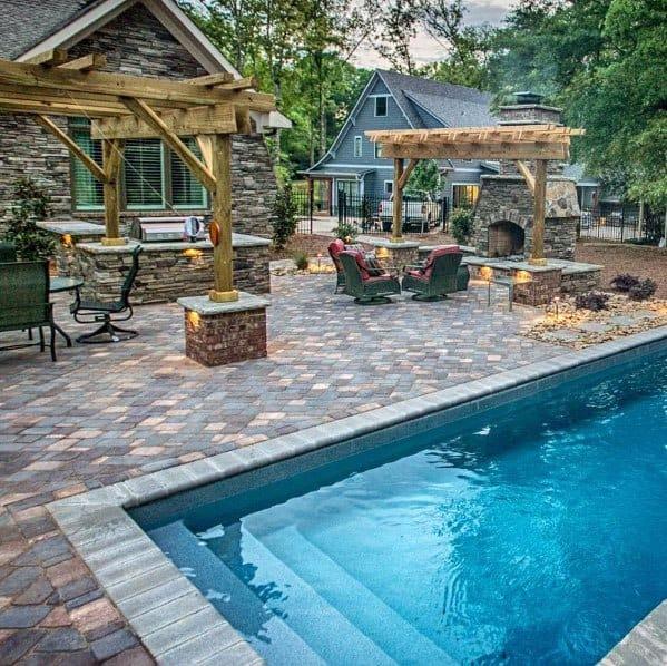 Top 60 Best Paver Patio Ideas - Backyard Dreamscape Designs on Patio Paver Design Ideas id=42431