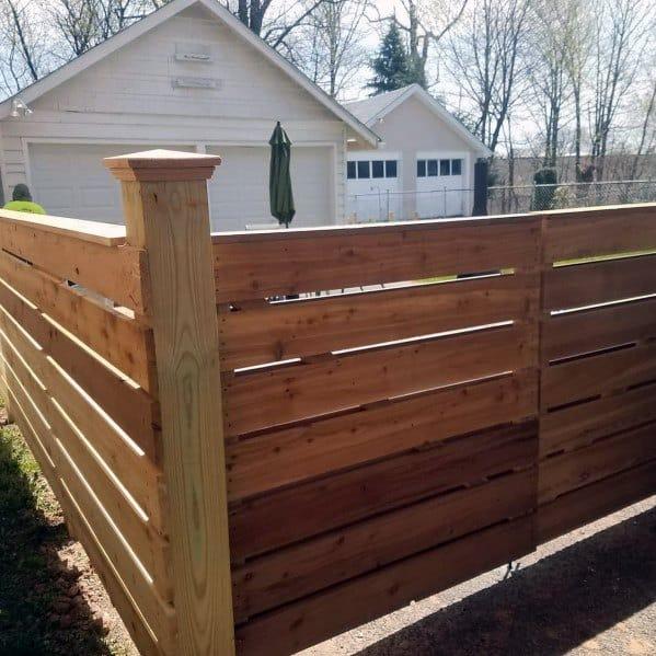 Top 70 Best Wooden Fence Ideas - Exterior Backyard Designs on Backyard Wooden Fence Decorating Ideas  id=97970