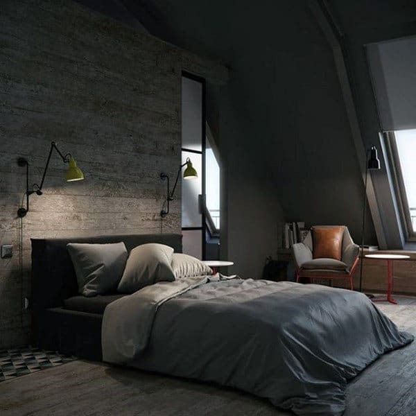 80 Bachelor Pad Men's Bedroom Ideas - Manly Interior Design on Bedroom Ideas For Men Small Room  id=82591