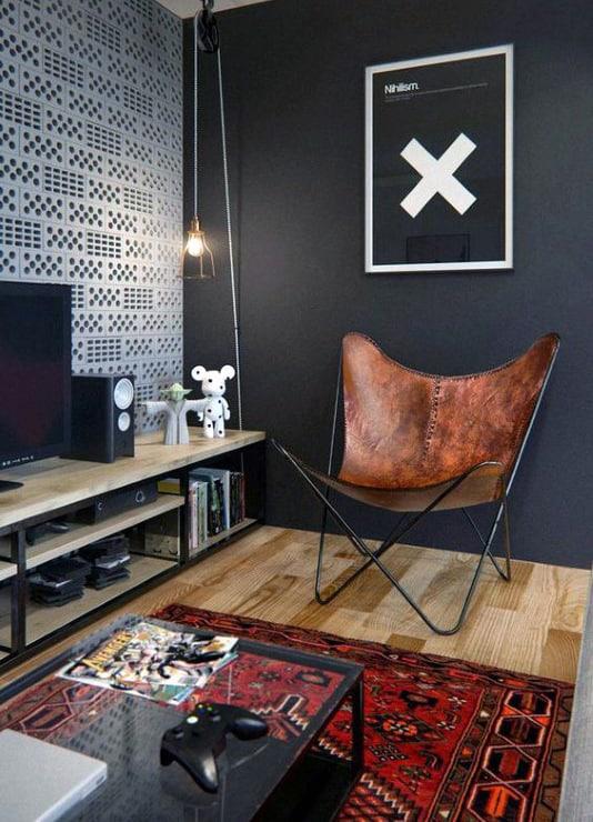 100 Bachelor Pad Living Room Ideas For Men - Masculine Designs on Bedroom Ideas For Men Small Room  id=13000